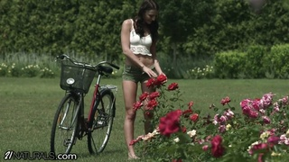 21naturals crazy Katy Rose stops by the garden for a sultry assfucking
