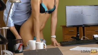 Loan4k. hot beauty needs additional money and she agrees