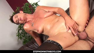 Sultry hot step-mother in underwear fucked by son-in-law