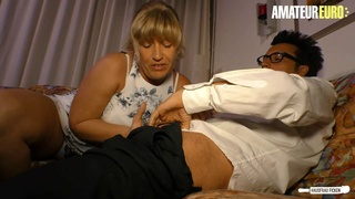AMATEUREURO - Lonely Housewife Debby Fountain Has Her Mature Pussy Pounded Hard
