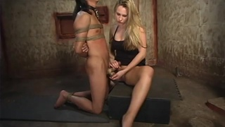 MILF on high heels, rough femdom on her male slave's cock