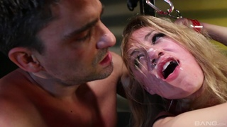 Abused whore gets gagged and forced fucked in BDSM