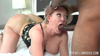 Mature gets roughly fucked by a black hunk while screaming a lot