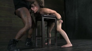 Rope around the neck of their hot oral slave