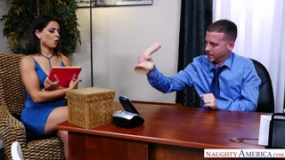 Jynx Maze replaces office dildos with her boss's big dick - naughtyoffice