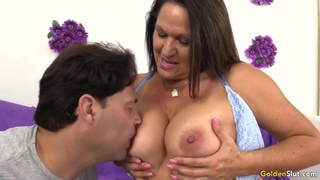 Older Slut Takes A Long Prick In Her Mouth And Pussy - Alexis Texas And Leylani Wood