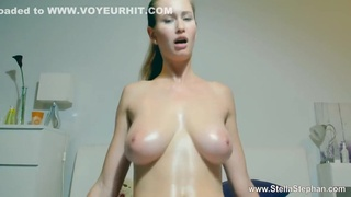 Blonde With Big Tits In Oil