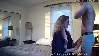 Husband Caught Cougar Wife Sex Young Dude Spycam