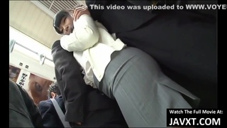 Japanese brunette is often traveling by bus, because someone always gets to fuck her brains out