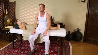Pussyfucked babe loves long and hard massage