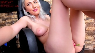 Girl squirting with dildo