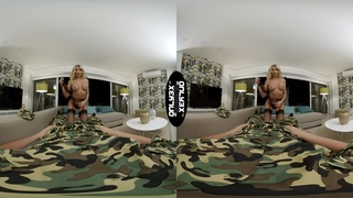 Hottest VR action with alluring blondie Marilyn Crystal