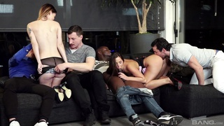 Wildly sexy group sex with Amirah Adara and Misha Cross