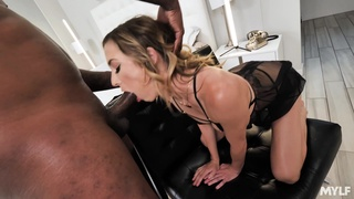 Sexual addicted to BBCs, this babe goes full mode in interracial
