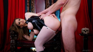 The awesome tits on Stella Cox are on display while she's dicked good