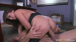 Sexy MILF is keen for a round of merciless sex with the new manager