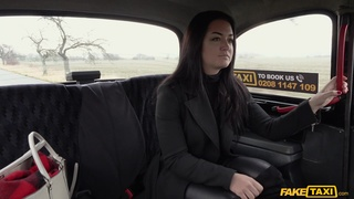 Brunette Sofia The Bum makes poor decisions in her taxi