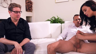 Cock-loving Whitney Wright fucked good in front of her loser cuckold