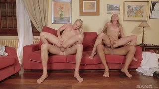 Teen slut shares and swap cocks with best friend