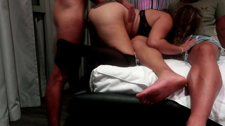 1 Guy PAID for me on a MOTEL and my CUCKOLD HUSBAND WATCHED