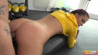 Kinky babe Lyen Parker gets fucked hard in the gym