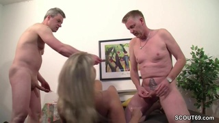 German Mom In Real Casting With Two Bis - Nina hartley