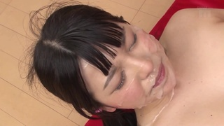 Young asian gangbanged with a creampie and massive cumshots