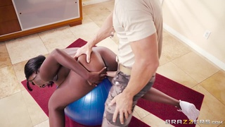 Black chick Osa Lovely loved hardcore interracial fuck with coach