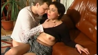 Young guy covets to brunette milf and fucks her hard