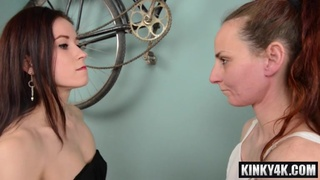 Steamy slave domination and ejaculation