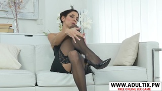 Smoking Step-Mama Rachel Evans Bangs Sweet Young Babe Son's Friend