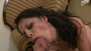 Horny Latina gets her portion of a hard fuck