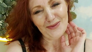 Funny ginger MILF talks about sexshop and toys