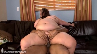 Treading Dangerous Waters - obese fatty Rikki Waters in interracial with cumshot