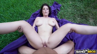 Huge Ass Maid with big ass screwed outdoors - POV hardcore with cumshot