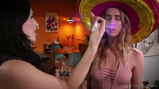 Strapon and group sex Mexican fiesta with amateur busty babes - cultural appropriation :)
