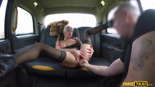 Reality Sex in Car - Short Haired Tattooed Blonde Ass Fingeres and Fucked - Tanya Virago