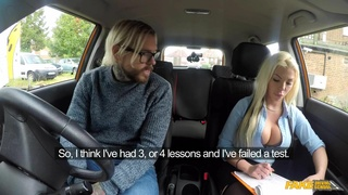 Fake Driving School - Busty Blonde Is Cum Hungry On Test 1 - Barbie Sins