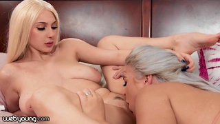 Sexy Young College Girl Skylar Vox Pops The Cherry Of Her Stepsister - blonde lesbians