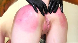Bondage anal toys squirt and rough strapon guy This is