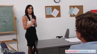 Fit athletic teacher Kendra Lust motivates her student and fucks him good