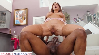 Curvy MILF craving some rock hard big black cock while her hubby is away