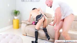 Before topping cock busty nympho Nova Cane prefers to give a good BJ