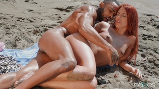 Fucked by the beach by a black lover with a huge dick