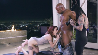 Black hunk ruins these women pussies and asses