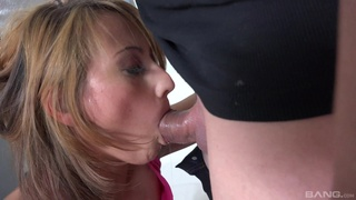Young babe fucked in the ass after a perfect blowjob