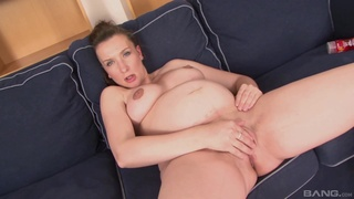 Prego amateur lands a lot of dick in her tight pussy