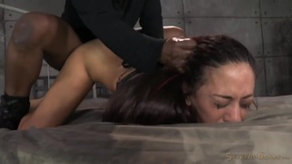 Two masters use their slave for sexual pleasure