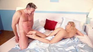 Blonde cutie ends with cum on ass after lovely home porn